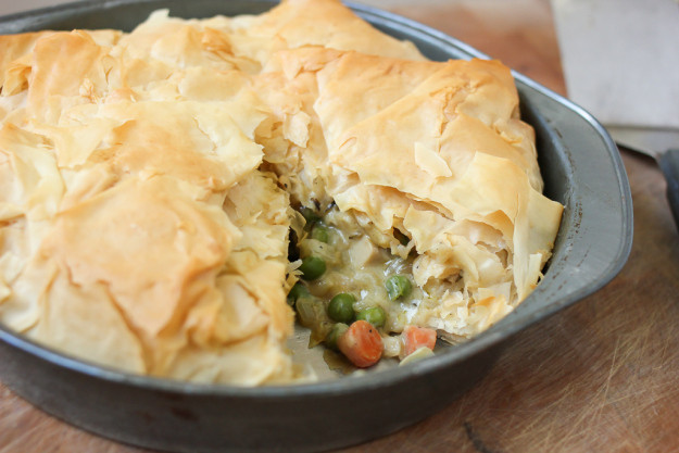 Vegan Chicken Pot Pie  Vegan Chicken Pot Pie with a Flaky Phyllo Crust