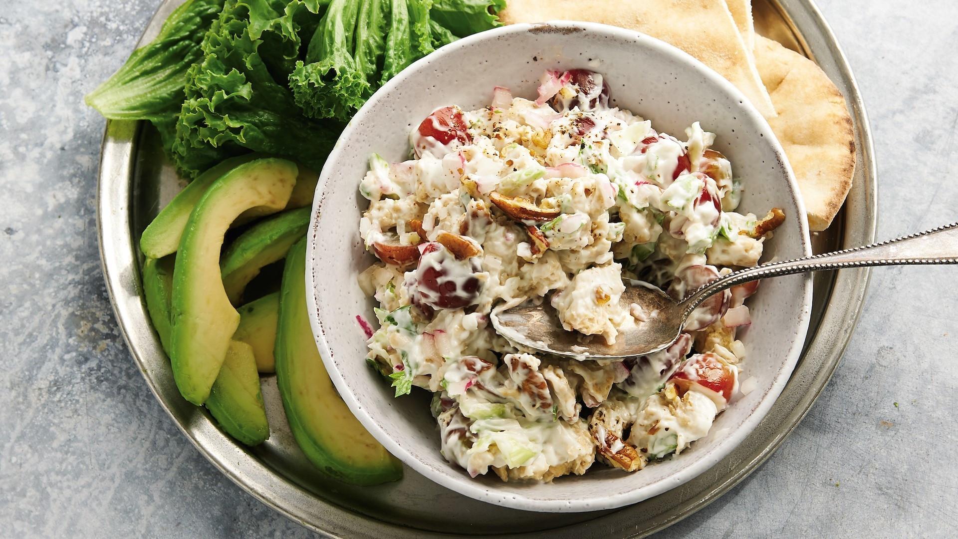 Vegan Chicken Salad  Meatless Monday Waldorf chicken salad is a vegan take