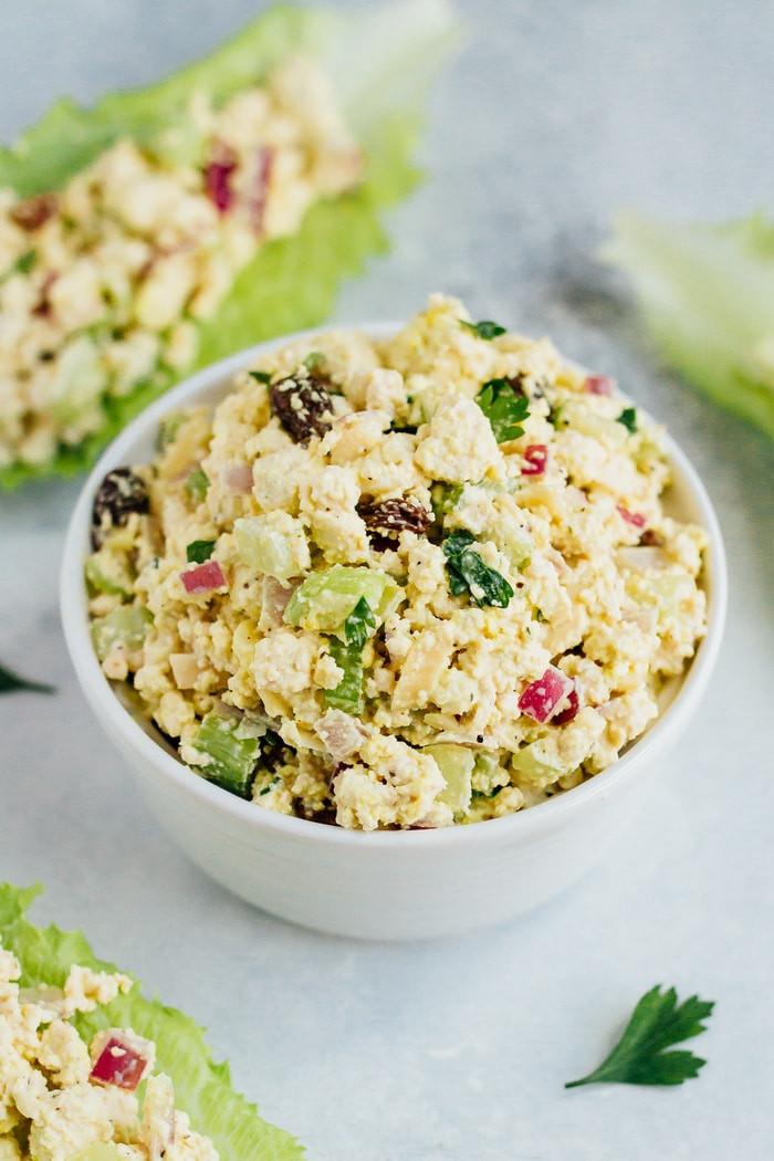 Vegan Chicken Salad  Vegan Chicken Salad Eating Bird Food