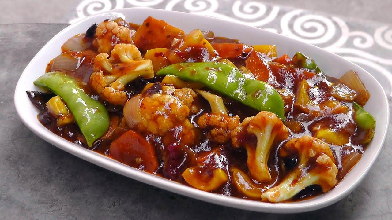 Vegan Chinese Recipes Chinese Ve ables in Szechuan Sauce Vegan Ve arian
