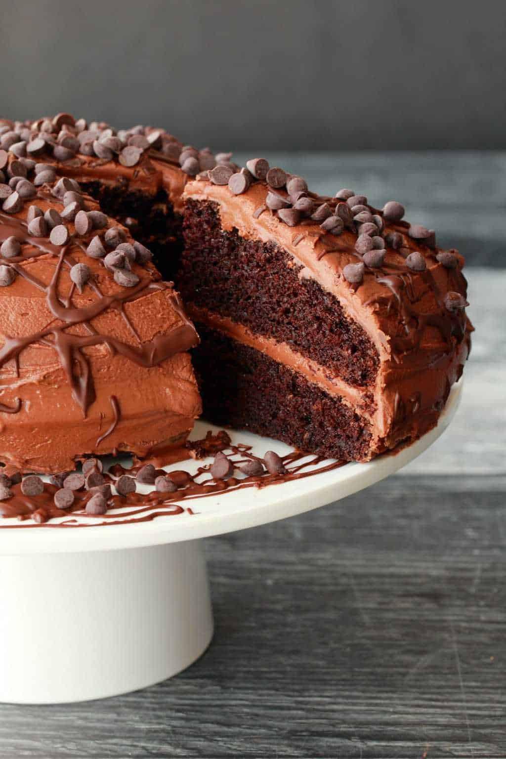 Vegan Chocolate Cake  Classic Vegan Chocolate Cake Loving It Vegan
