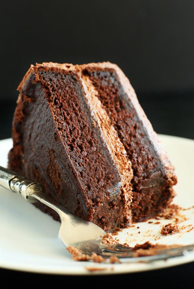 Vegan Chocolate Cake  Simple Vegan Chocolate Cake