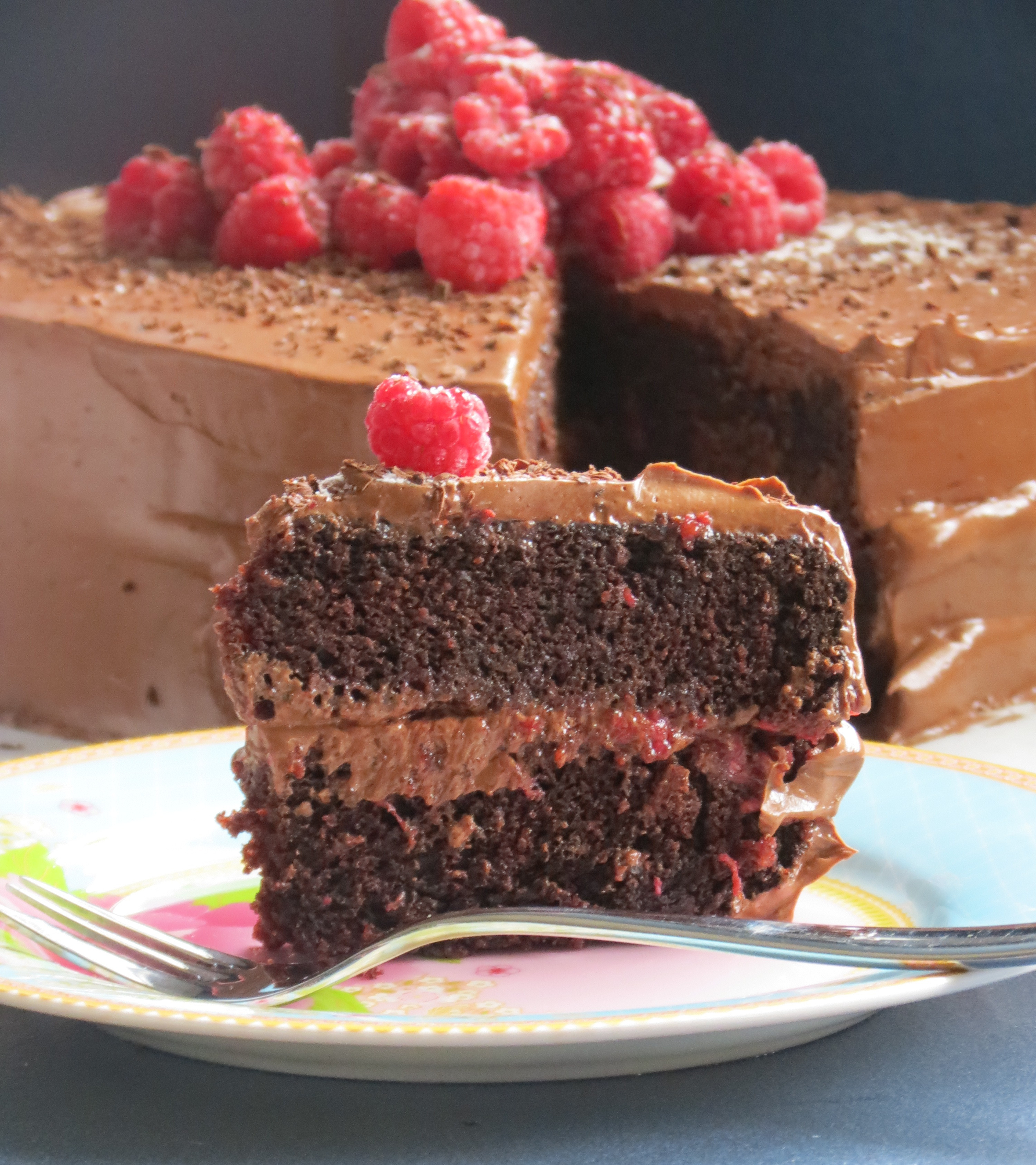 Vegan Chocolate Cake  Vegan chocolate cake egg free and dairy free raspberry