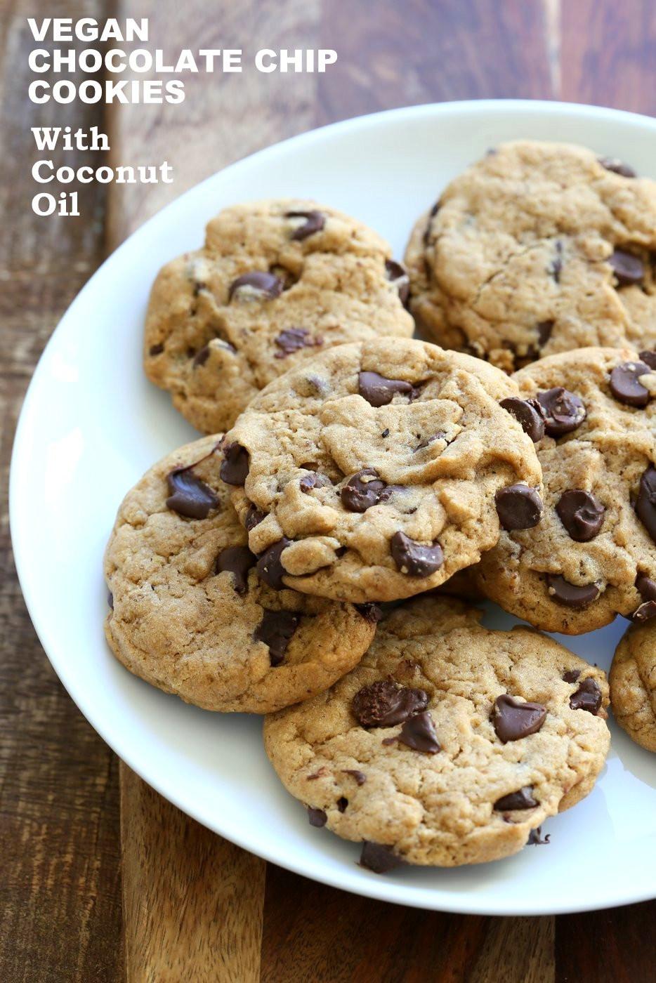 Vegan Chocolate Chip Cookies Recipe  Vegan Chocolate Chip Cookies with Coconut Oil Palm Oil