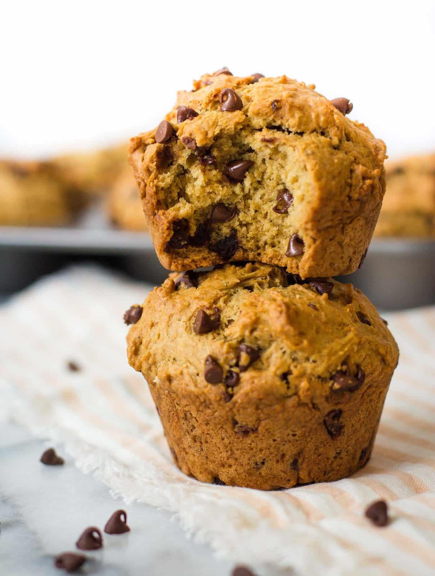 Vegan Chocolate Chip Muffins  Chocolate Chip Vegan Muffins