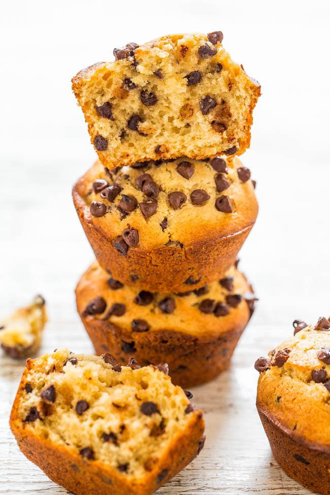 Vegan Chocolate Chip Muffins  Vegan Peanut Butter Chocolate Chip Muffins Averie Cooks