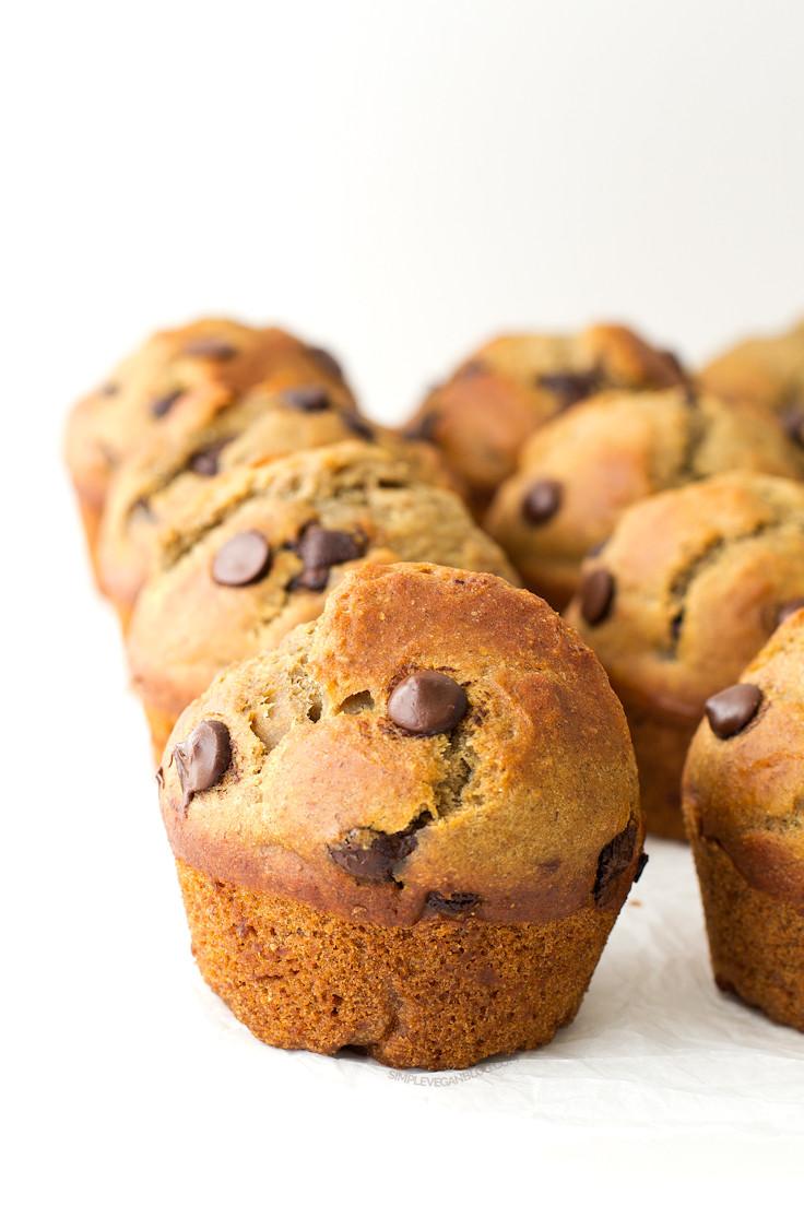 Vegan Chocolate Chip Muffins  Simple Vegan Chocolate Chip Muffins