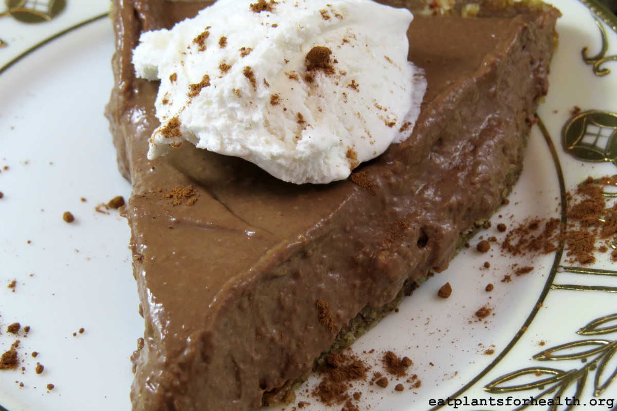Vegan Chocolate Pie  Vegan Chocolate Pie EAT PLANTS FOR HEALTH