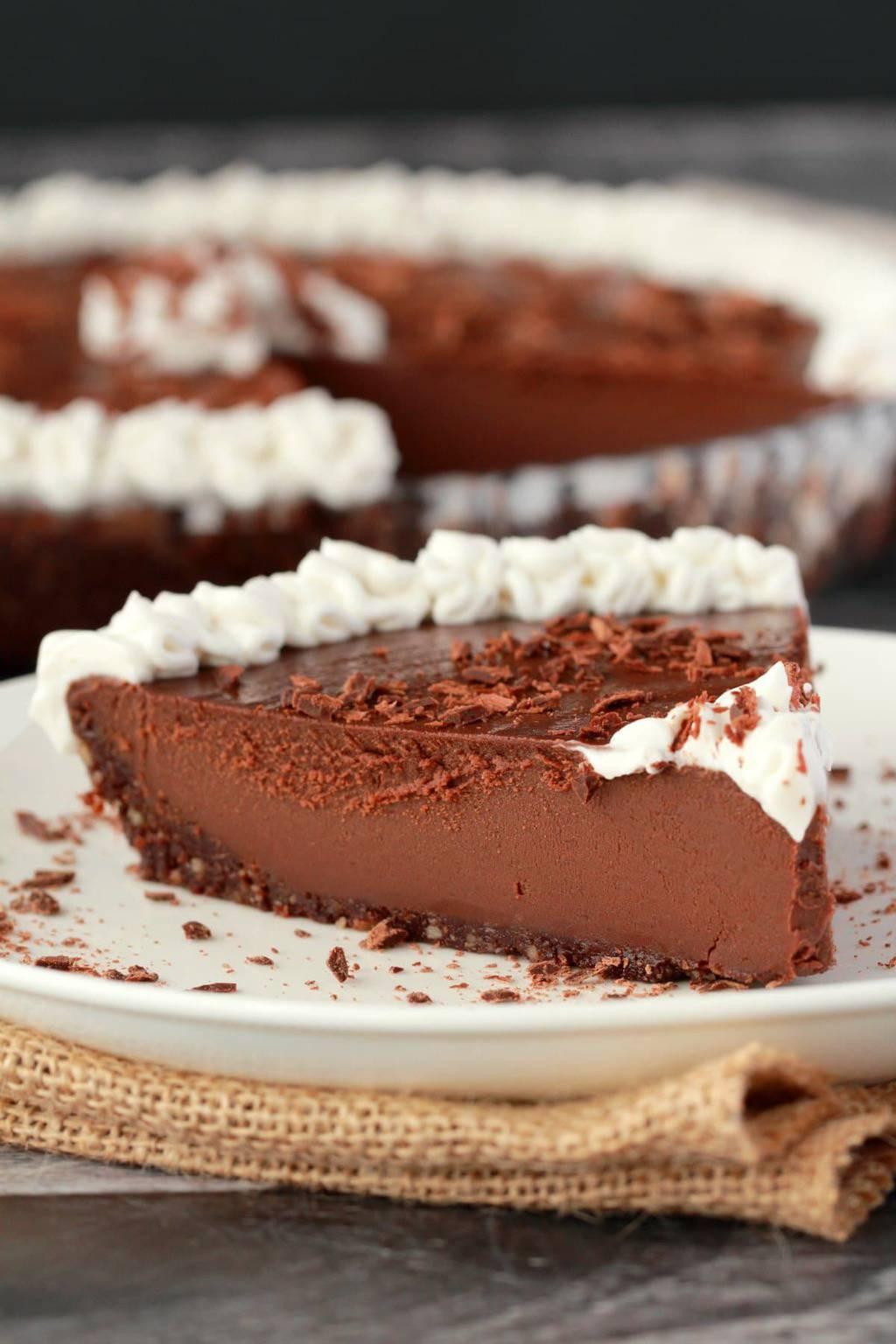 Vegan Chocolate Pie  Ultra Rich No Bake Vegan Chocolate Pie Loving It Vegan