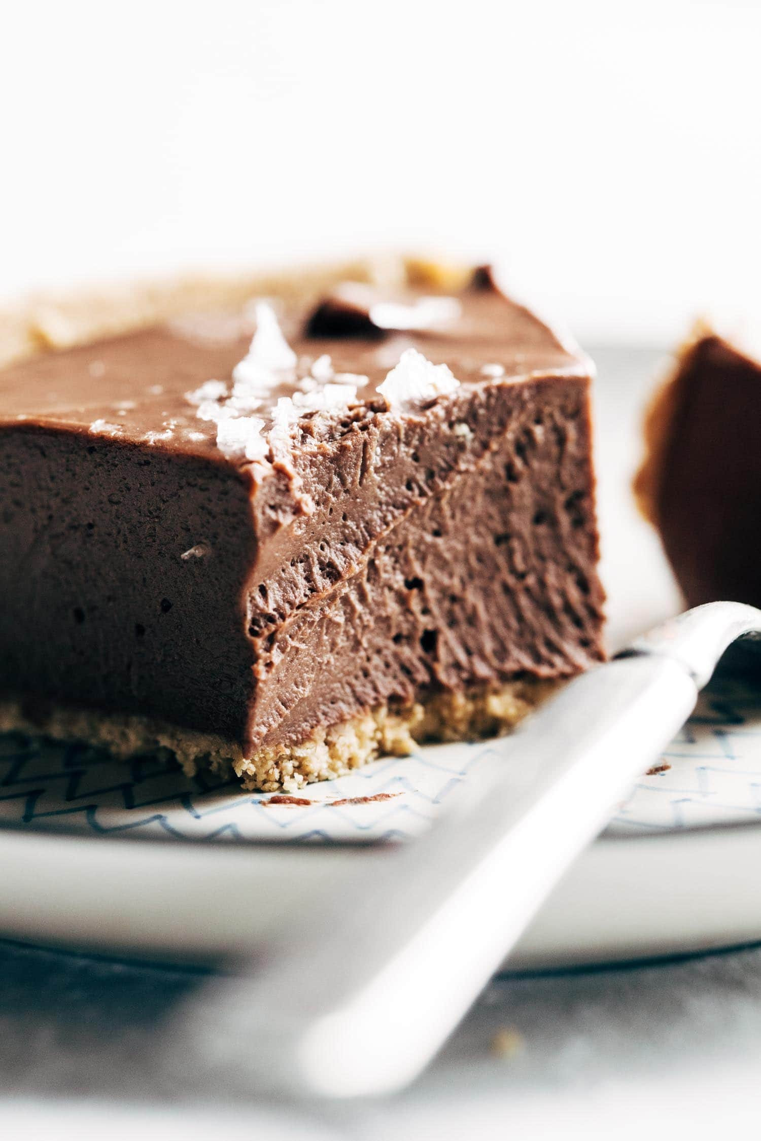 Vegan Chocolate Pie  Mind Blowing Vegan Chocolate Pie Recipe Pinch of Yum