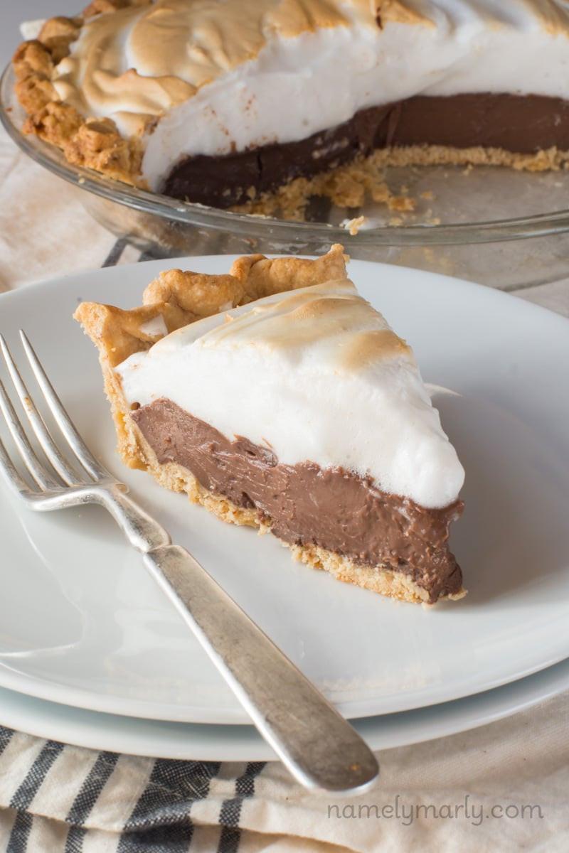 Vegan Chocolate Pie  Vegan Chocolate Meringue Pie