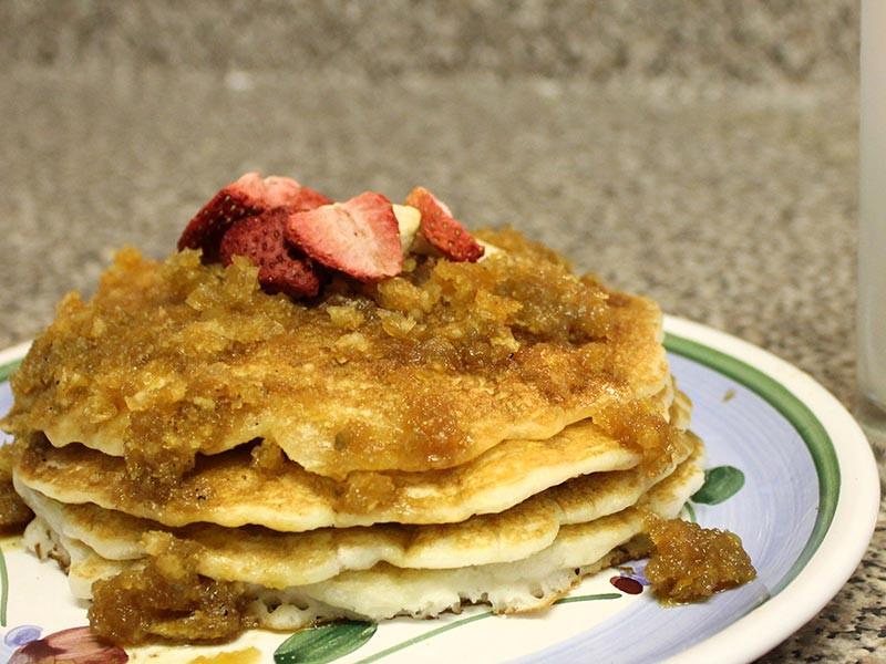 Vegan Coconut Flour Pancakes  Vegan Coconut Flour Pancakes with Coconut Syrup Manjula