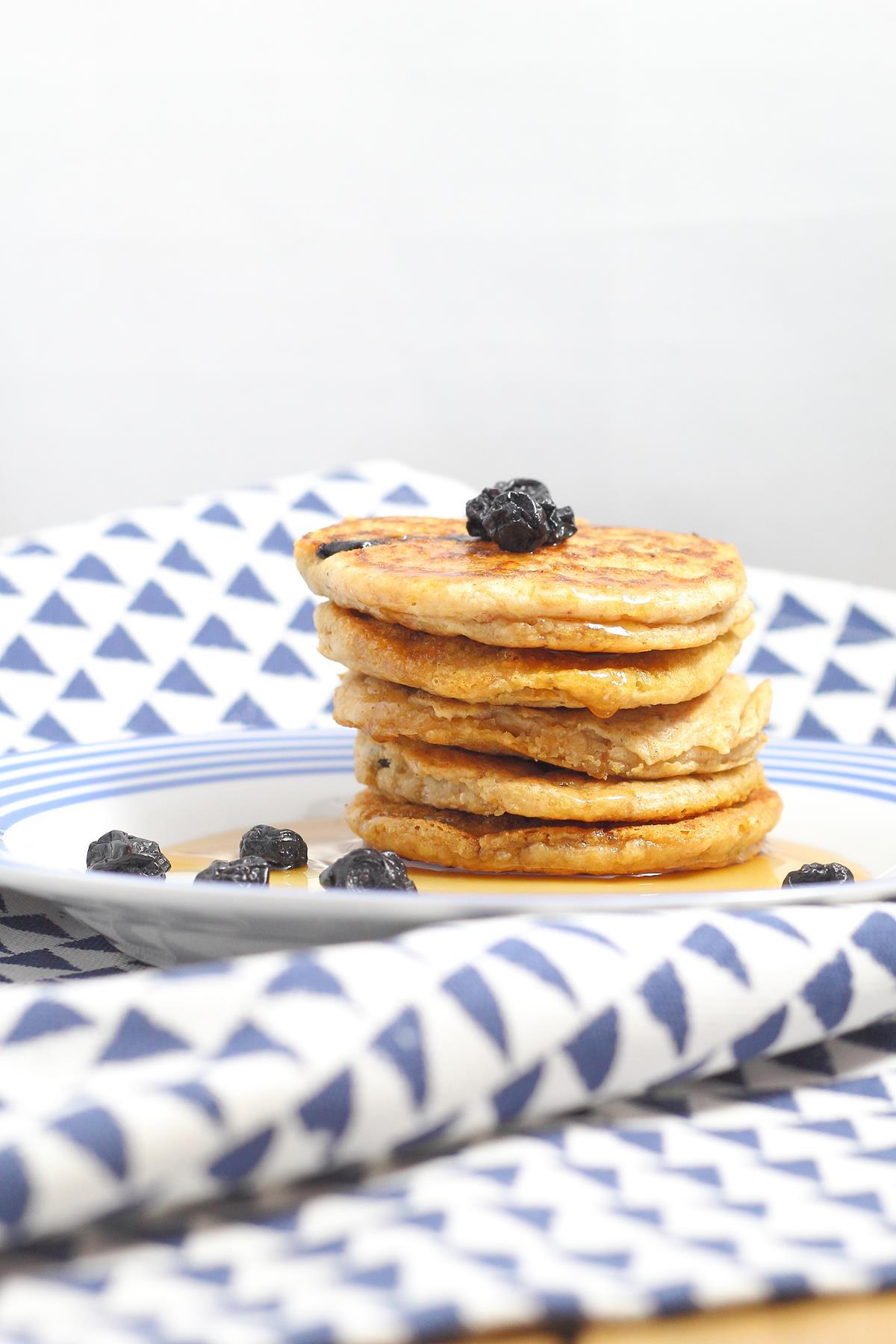 Vegan Coconut Flour Pancakes  Blueberry Coconut Flour Pancakes