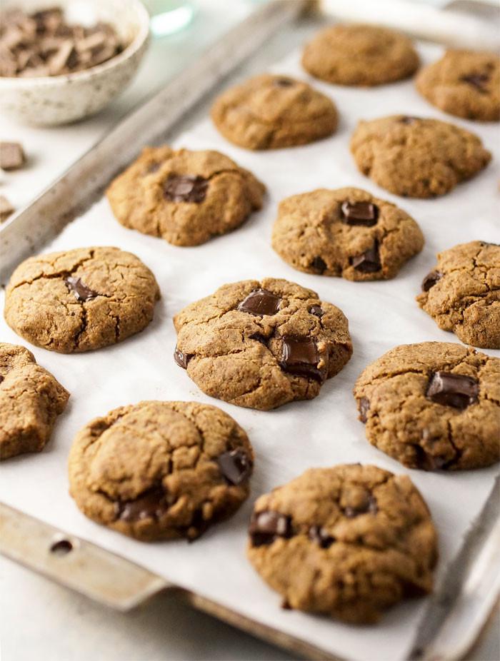 Vegan Cookie Recipes  Easy Vegan Buckwheat Chocolate Chip Cookies