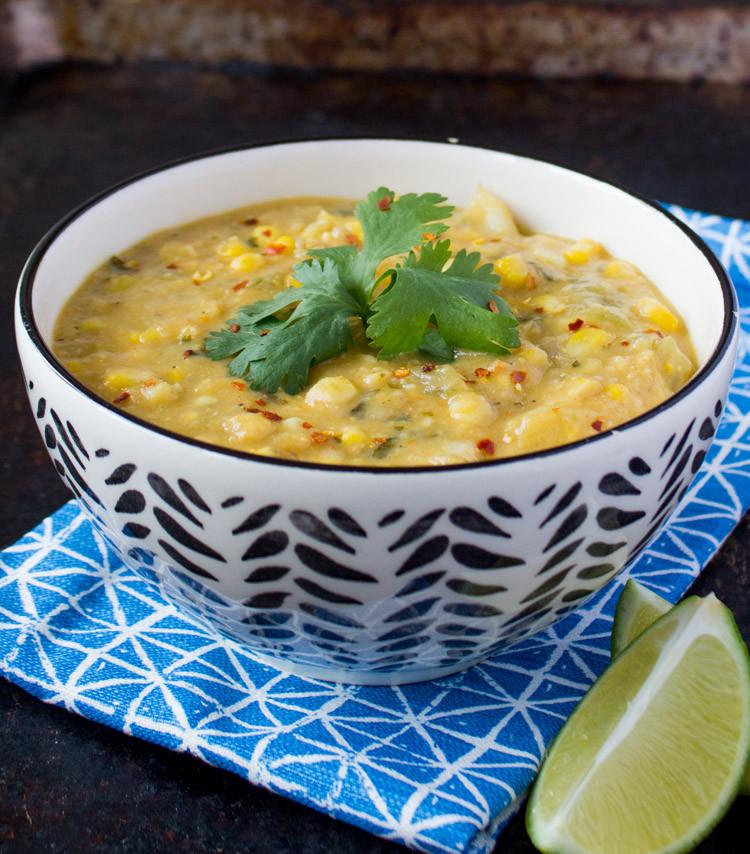 Vegan Corn Chowder  Vegan Creamy Corn Chowder VIDEO Sweet Potato Soul by