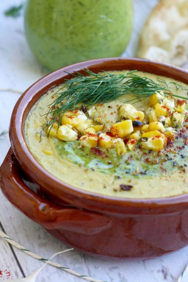Vegan Corn Chowder  The Best Vegan Corn Chowder • Happy Kitchen Rocks