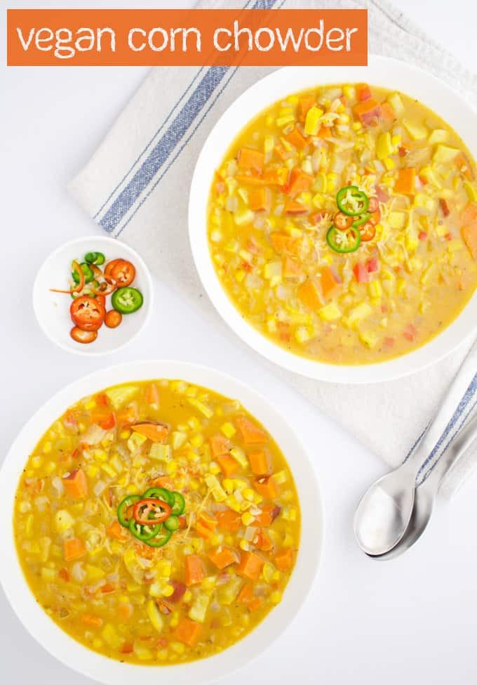 Vegan Corn Chowder  Vegan Squash & Corn Chowder Delish Knowledge