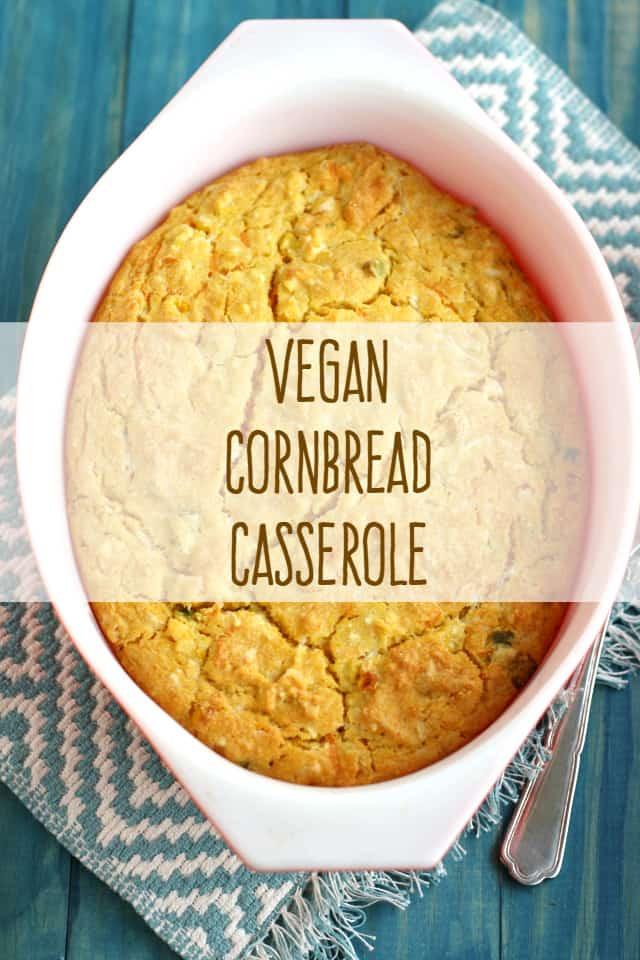 Vegan Cornbread Recipe  Vegan Cornbread Casserole The Pretty Bee