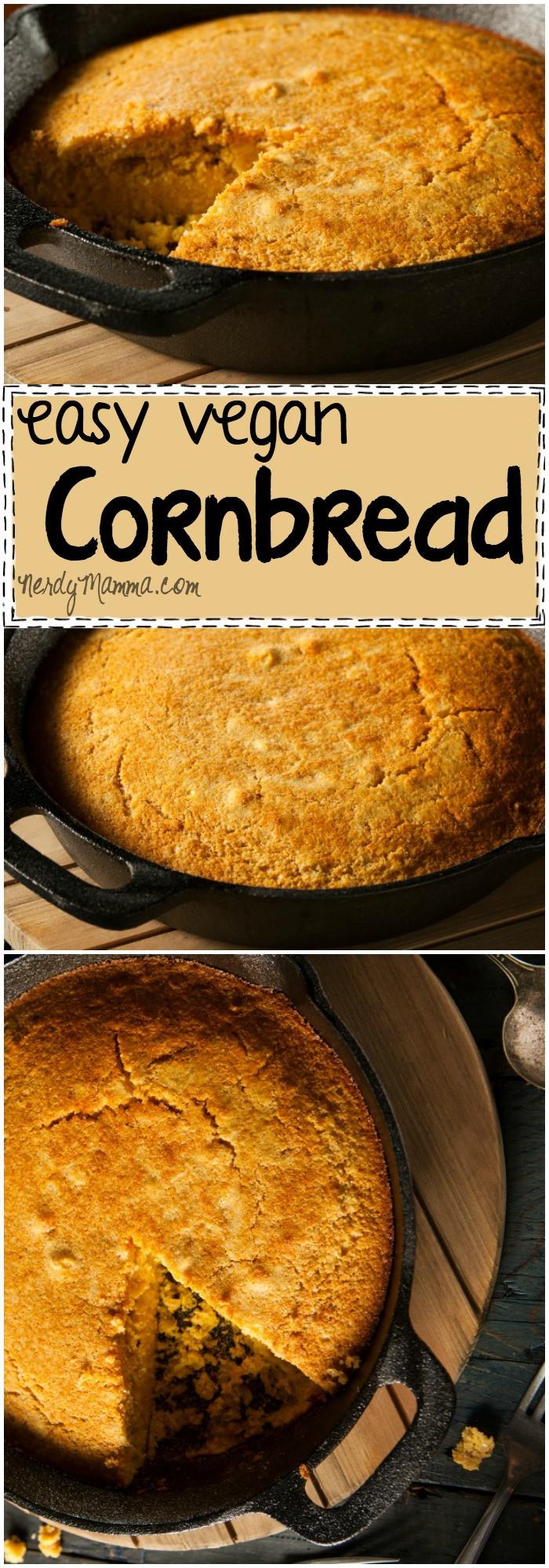 Vegan Cornbread Recipe  Vegan Cornbread