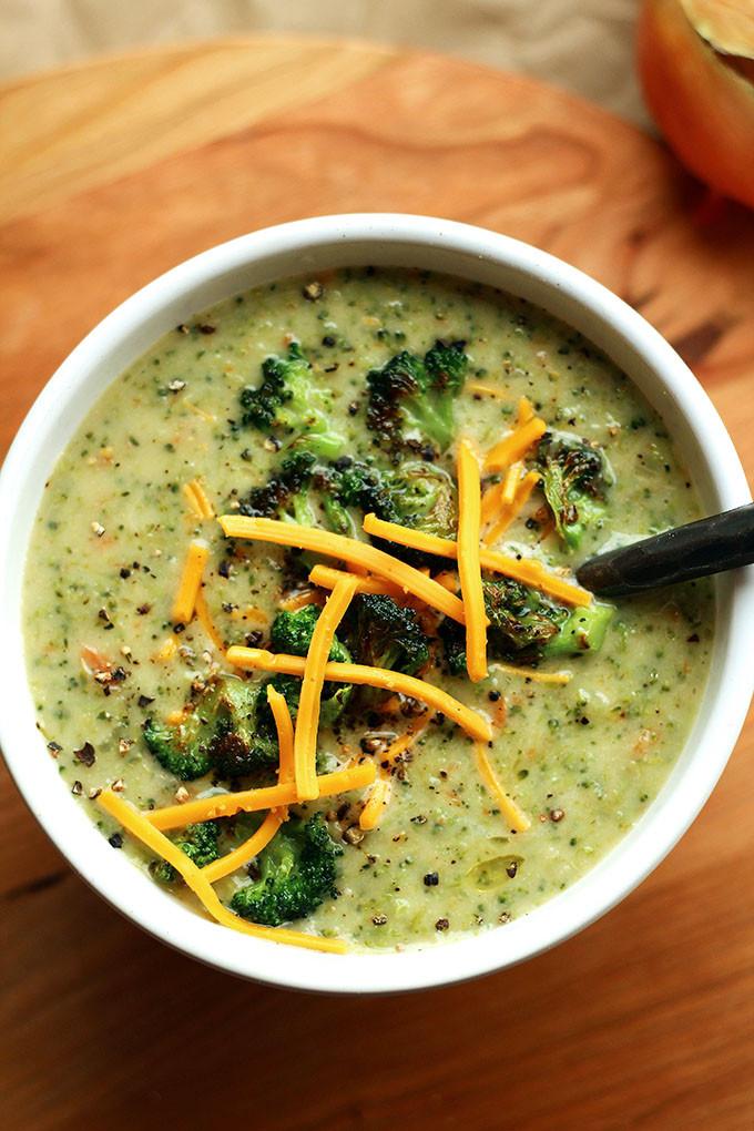 Vegan Cream Of Broccoli Soup  Creamy Vegan Broccoli Soup Vegan Cream of Broccoli Soup