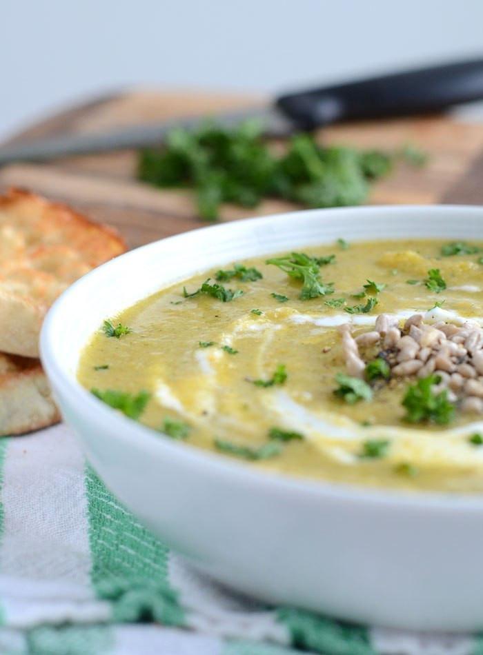 Vegan Cream Of Broccoli Soup  Vegan Cream of Broccoli Soup Low Calorie Low Fat Lots