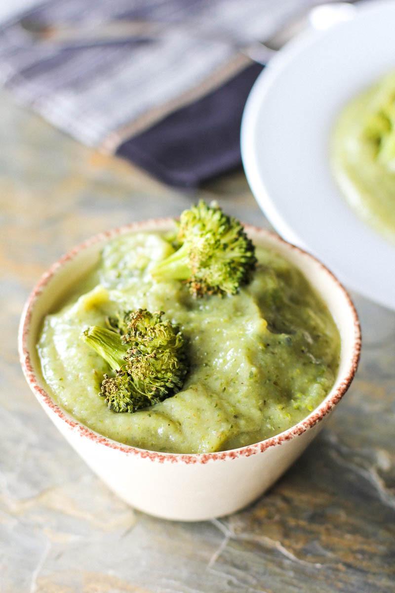 Vegan Cream Of Broccoli Soup  Vegan Cream of Roasted Broccoli and Cauliflower Soup