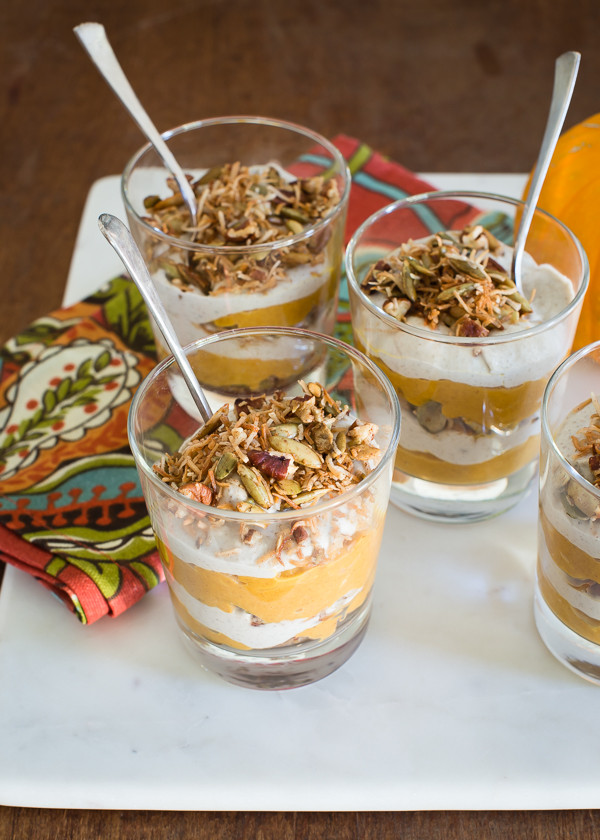 Vegan Dessert Portland  Maple Pumpkin Parfaits