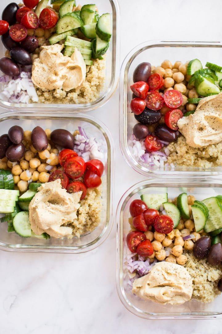 Vegan Dinner For Two  Mediterranean Vegan Meal Prep Bowls • Salt & Lavender