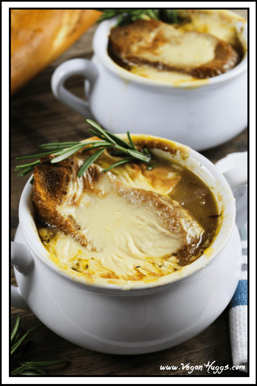 Vegan French Onion Soup  Vegan French ion Soup Vegan Cheese Vegan Huggs