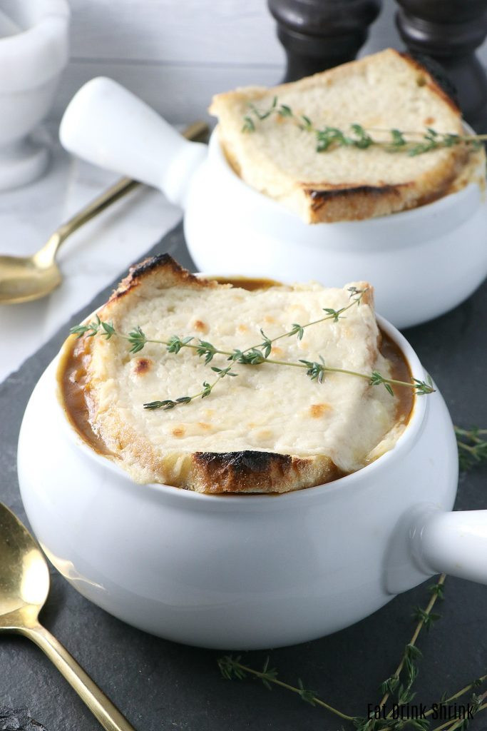 Vegan French Onion Soup  Vegan French ion Soup Eat Drink Shrink