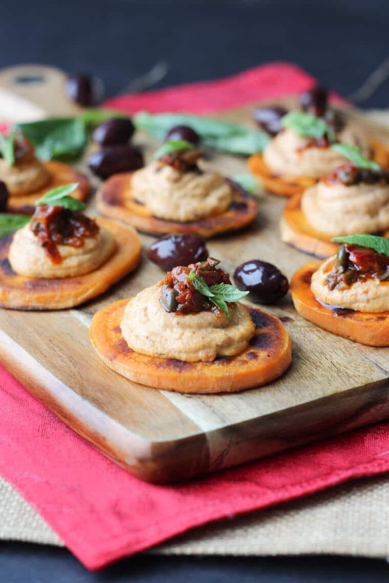 Vegan Gluten Free Appetizers  Vegan Sundried Tomato Sweet Potato Bites