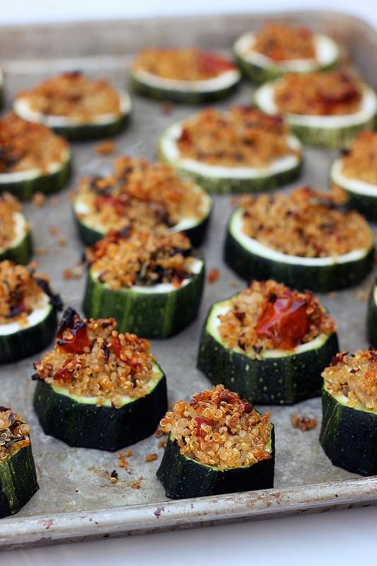 Vegan Gluten Free Appetizers  Quinoa Stuffed Zucchini Bites Gluten free Vegan