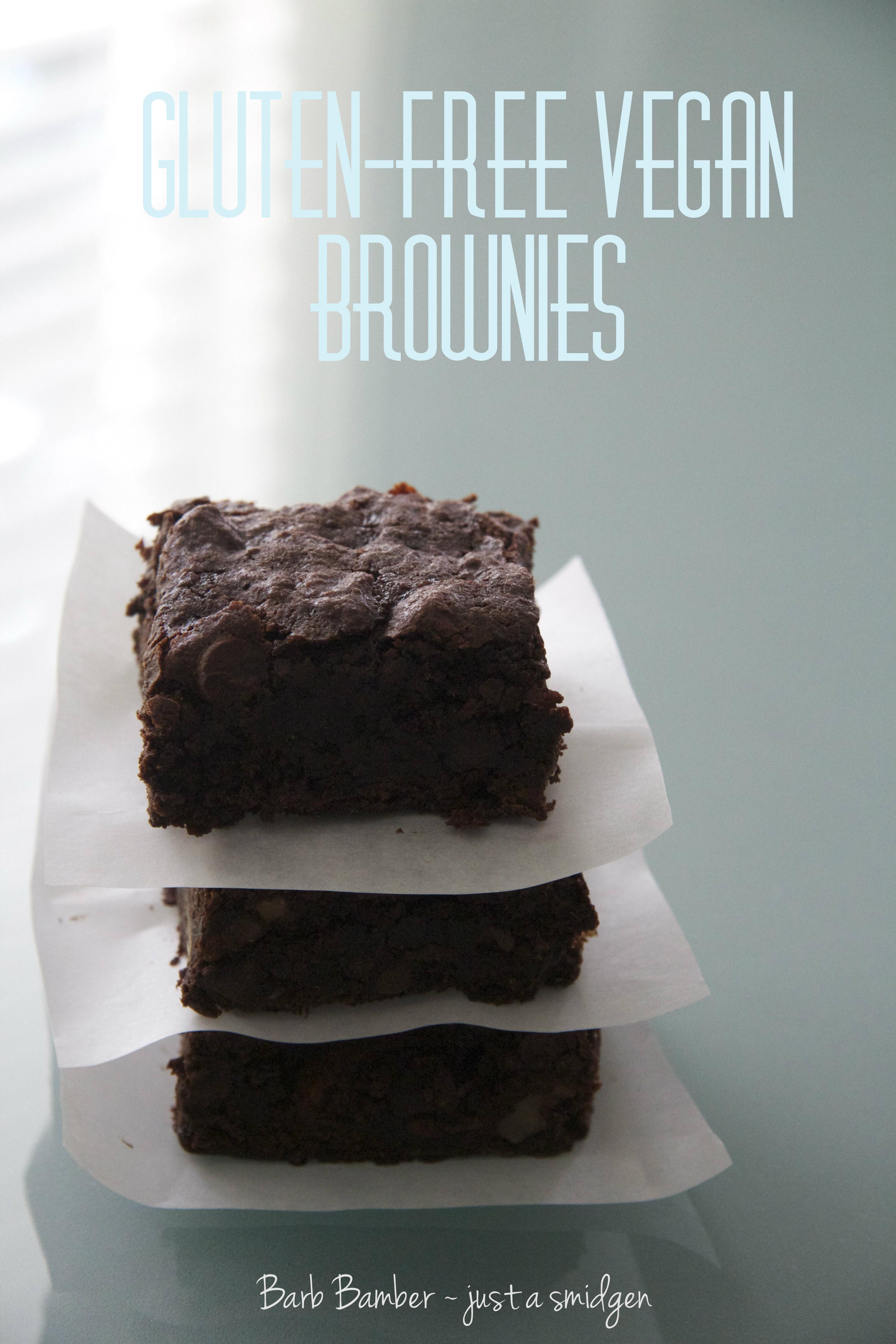 Vegan Gluten Free Brownies  Emeril s Gluten Free Vegan Brownies Just a Smidgen
