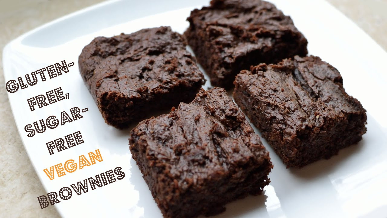Vegan Gluten Free Brownies  Gluten Free Sugar Free Vegan Brownies