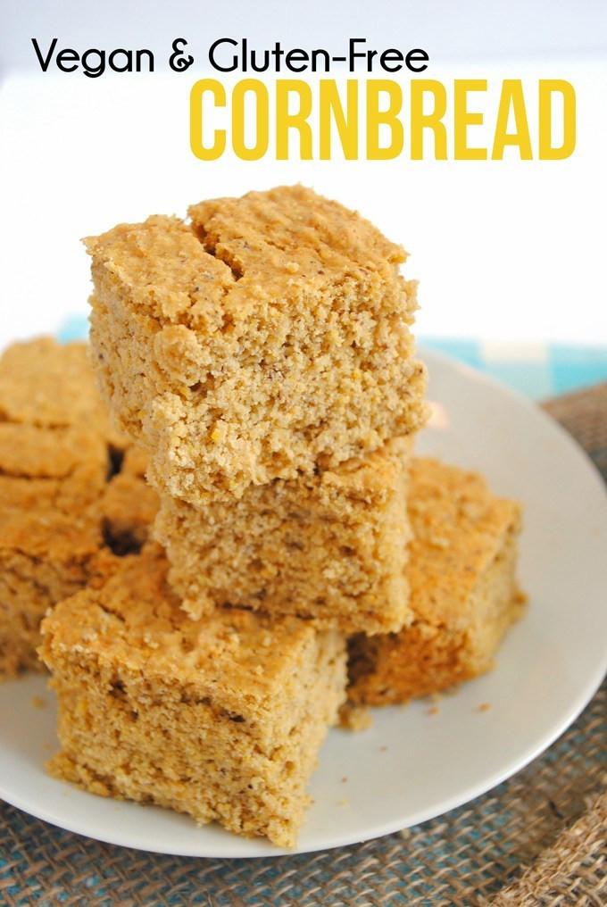 Vegan Gluten Free Cornbread  Healthy Cornbread vegan gluten free