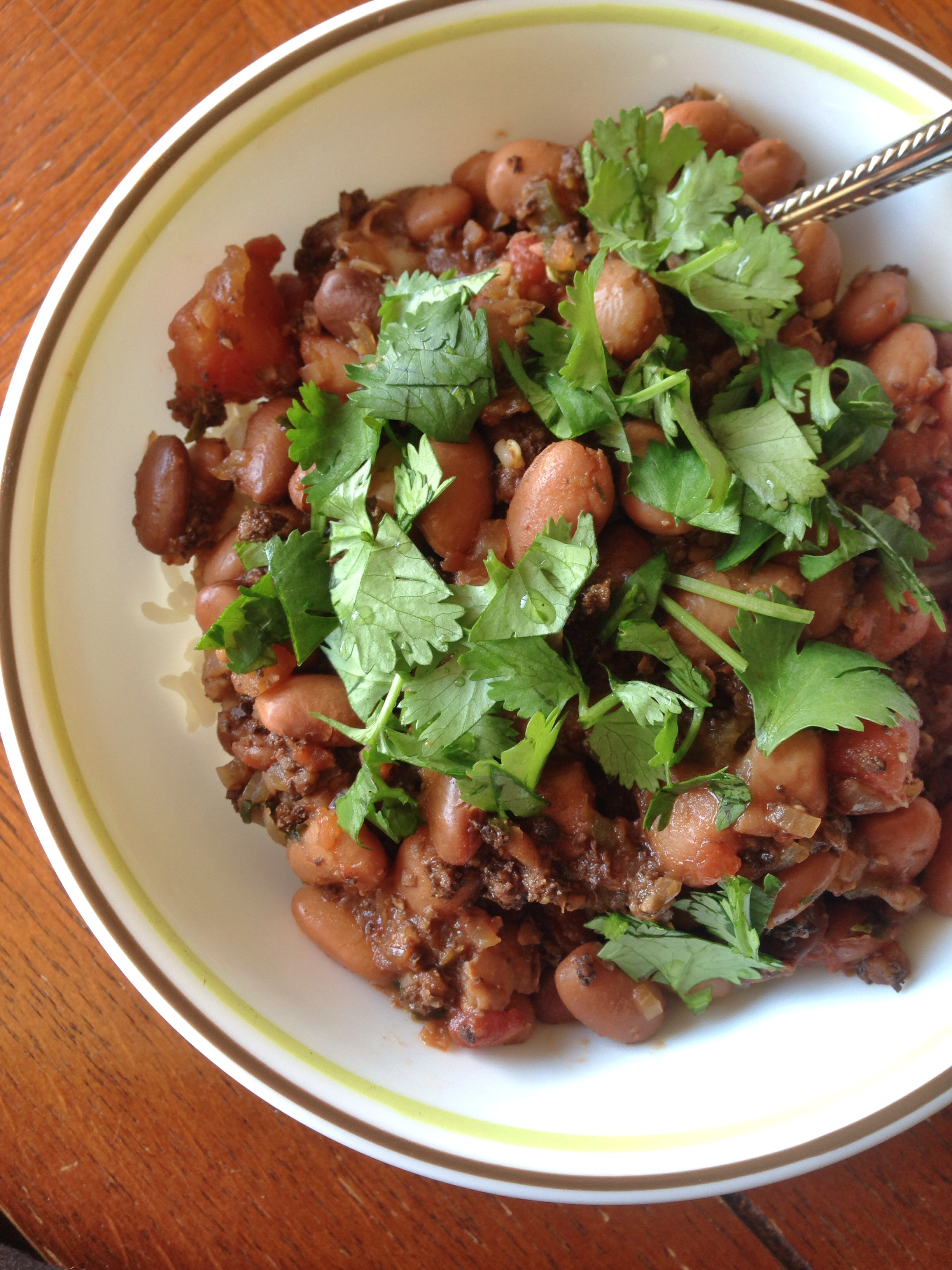 Vegan Ground Beef  fort Food Chili Beans with Vegan Ground Beef