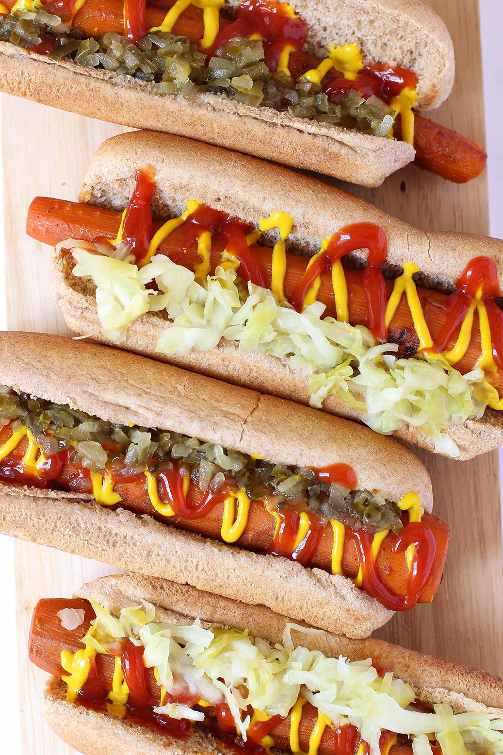 Vegan Hot Dogs  Vegan Carrot Hot Dogs