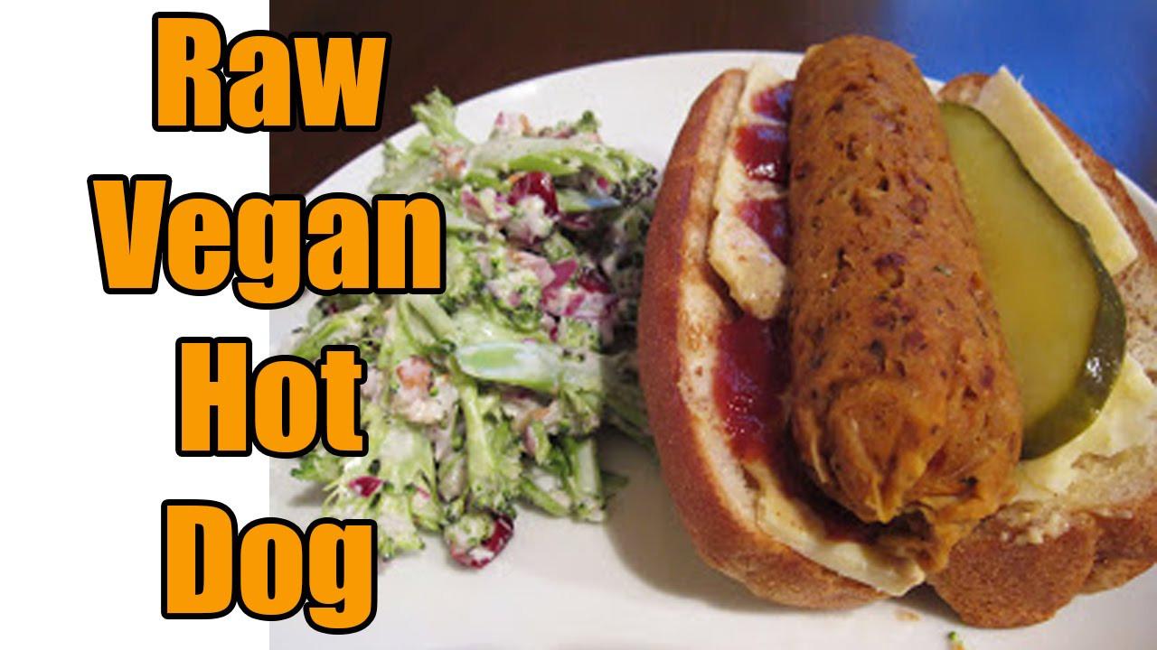 Vegan Hot Dogs  Raw Vegan Hot Dog Recipe MOUTHWATERING