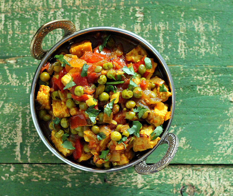 Vegan Indian Recipes  Mutter Paneer Spiced Peas and Tempeh curry Glutenfree