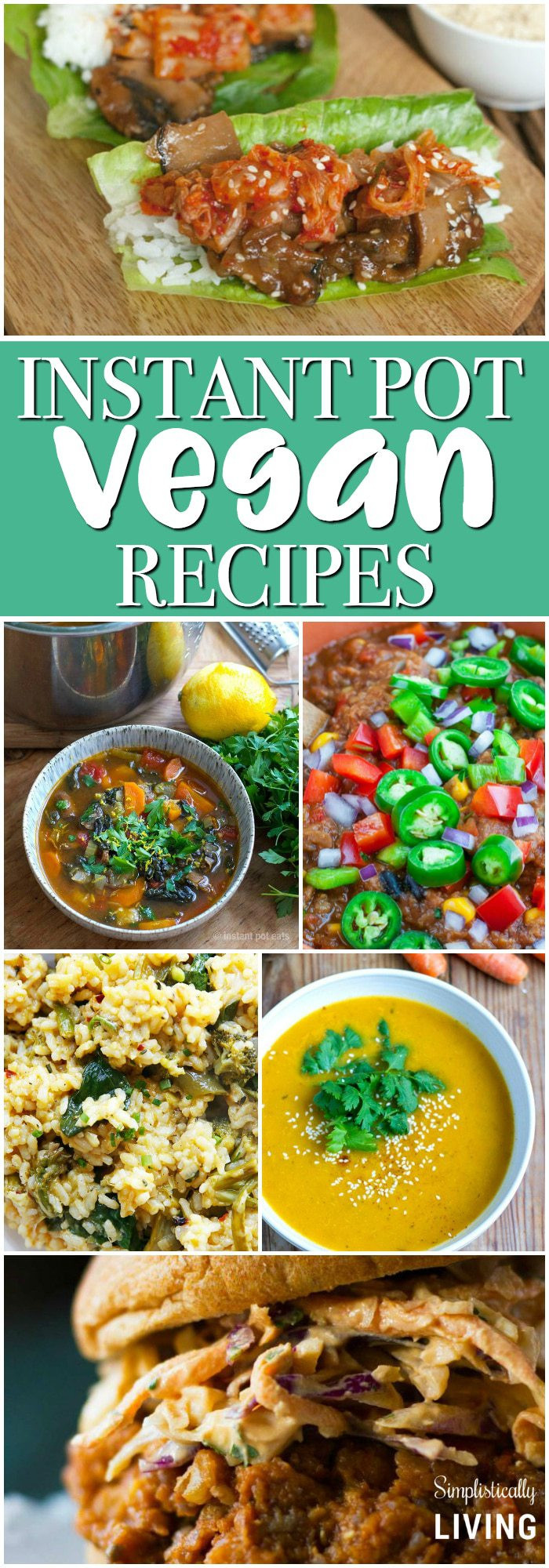 Vegan Instant Pot Recipes  Instant Pot Vegan Recipes Simplistically Living