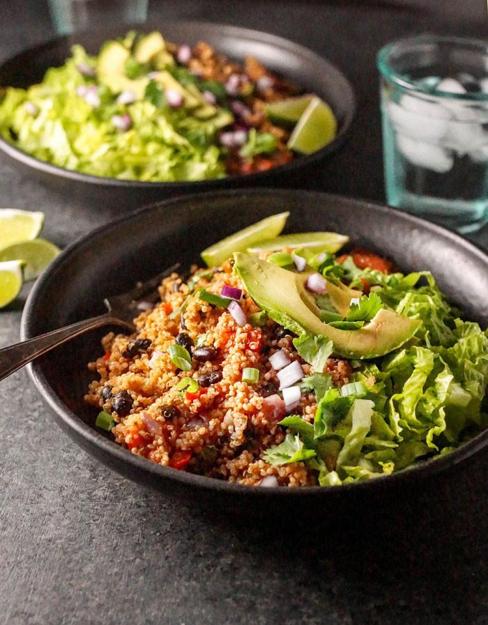 Vegan Instant Pot Recipes  Instant Pot Vegan Quinoa Burrito Bowls
