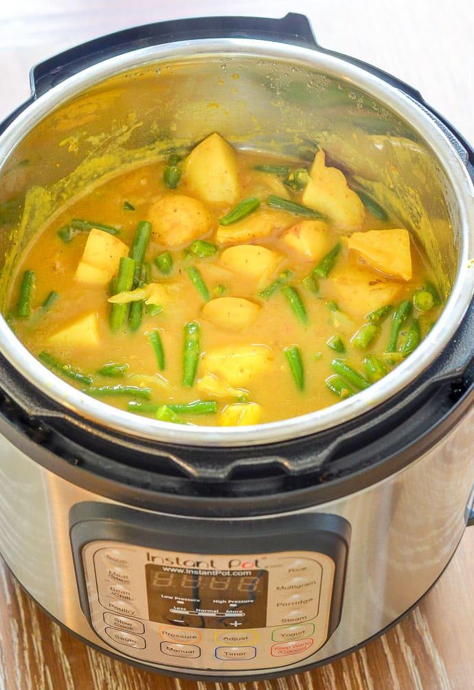 Vegan Instant Pot Recipes  Vegan Instant Pot Potato Curry Recipe A Virtual Vegan