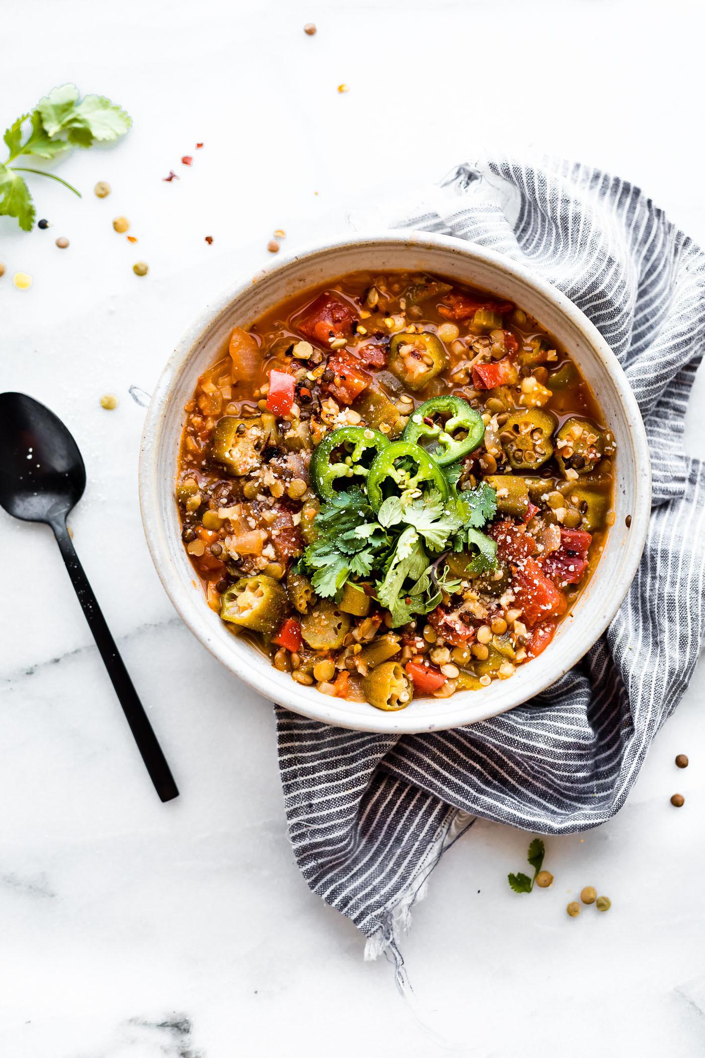 Vegan Instant Pot Recipes  Instant Pot Lentil Gumbo