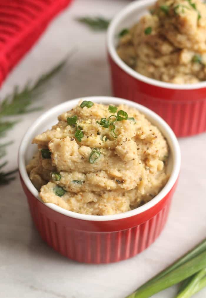 Vegan Mashed Cauliflower  Vegan Roasted Garlic Mashed Cauliflower