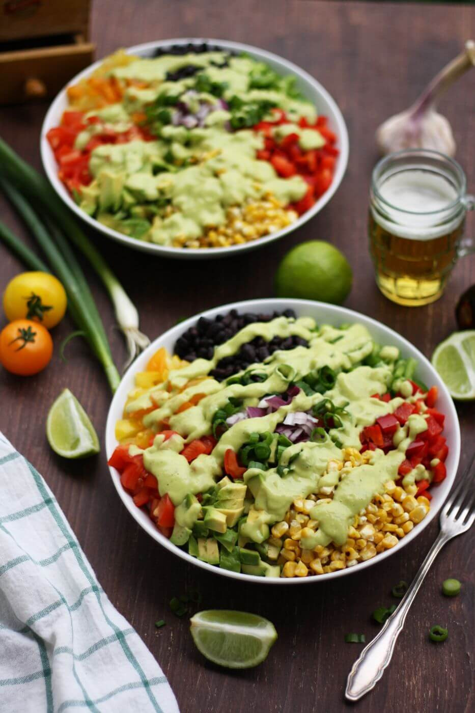 Vegan Mexican Recipes  Vegan Mexican Chopped Salad with Avocado Dressing • Happy
