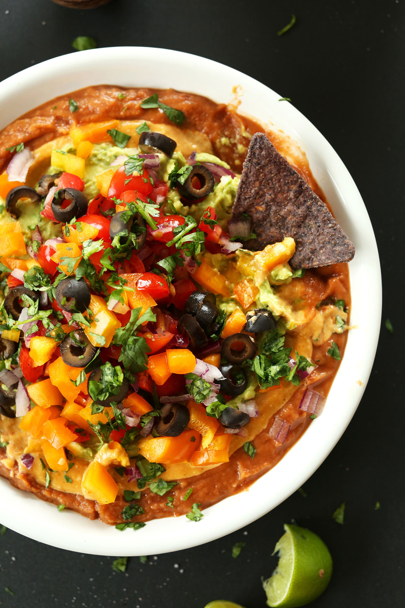 Vegan Mexican Recipes  Vegan Mexican Layer Dip