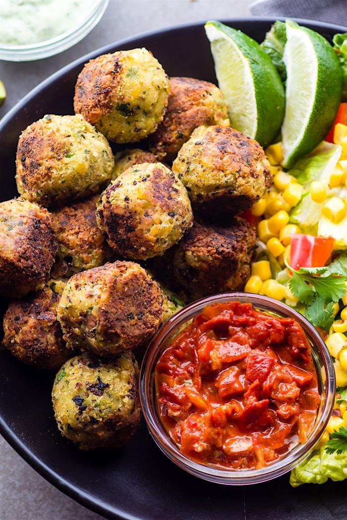 Vegan Mexican Recipes  Easy Mexican Vegan Falafel Bites Gluten Free