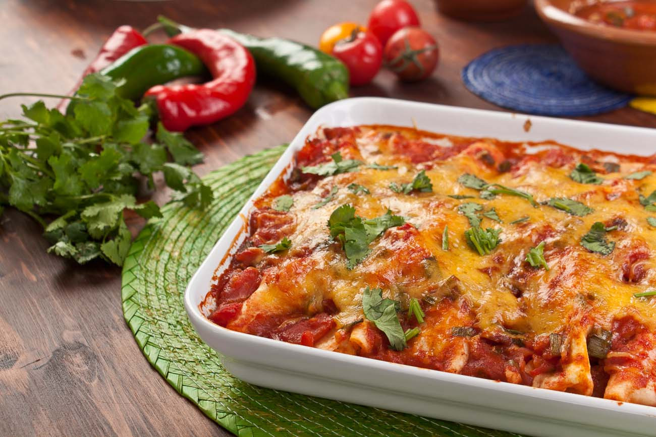 Vegan Mexican Recipes  Mexican Ve arian Bean & Cheese Enchiladas Recipe by