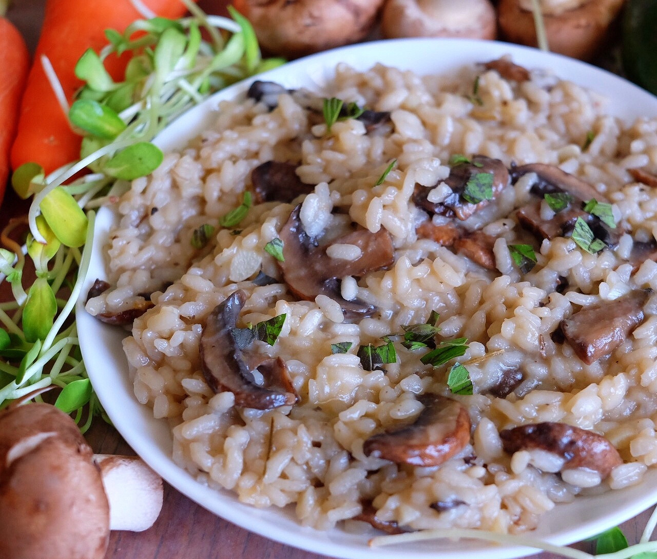 Vegan Mushroom Risotto  Hearty Vegan Mushroom Risotto Recipe