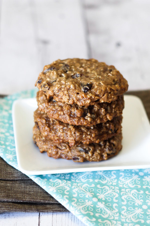 Vegan Oatmeal Raisin Cookies  gluten free vegan soft oatmeal raisin cookies Sarah